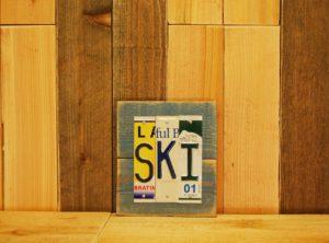 SKI License Plate Sign
