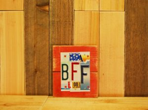 BFF License Plate (Red) Plaque