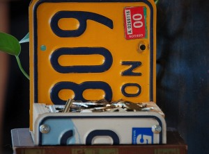 License Plate Box | Desktop or Wall-mount | Vintage Oregon and Washington State