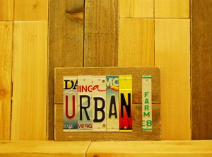 URBAN FARM License Plate Sign