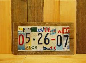 CUSTOM Date License Plate Sign