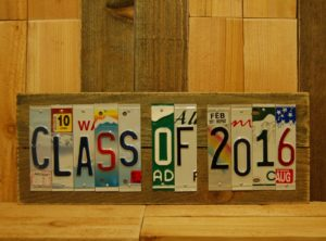 CLASS OF 2016 License Plate Sign