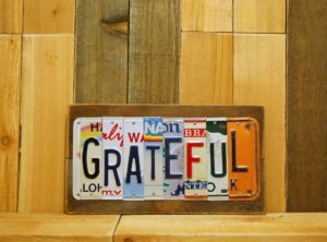 GRATEFUL License Plate Sign