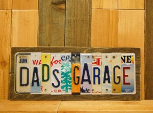 DAD'S GARAGE License Plate Sign