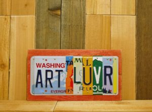 ART-LUVR License Plate Sign