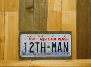 12TH-MAN – Seattle, WA Seahawks Football Team License Plate Sign