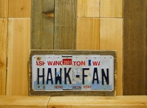 HAWK – FAN  -Seattle, WA Football Team License Plate Sign