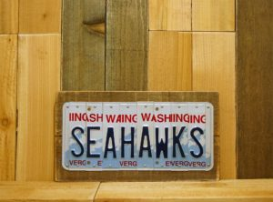 SEAHAWKS – Seattle, WA Football Team License Plate Sign