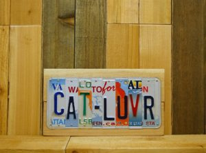 CAT-LUVR License Plate Sign