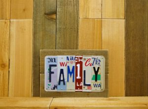FAMILY License Plate Sign