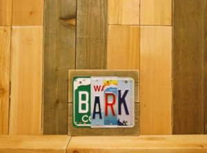 BARK License Plate Sign