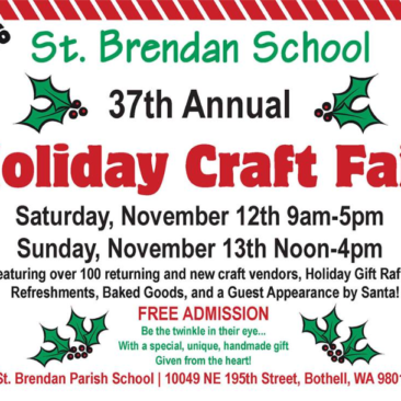 St. Brendan School 37th Annual Holiday Craft Fair